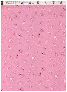 HALF YARD Yuwa Fabric -Petite Daisies and Dots on Pink - Atsuko Matsuyama 30s collection - Japanese Import - Red and White Daisy on Pink by fabricsupply on Etsy