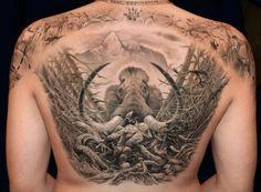realistic elephant tattoo designs
