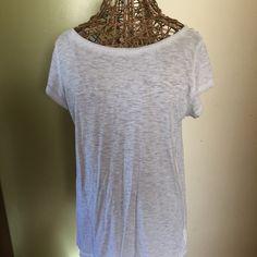 Ballet tee Grey ballet neck tee shirt excellent condition GAP Tops Tees - Short Sleeve