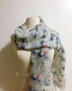 Colourful Northern Soul Patches Design Lightweight Chiffon Long Scarf Shawl Gift
