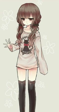 Uploaded by Find images and videos about cute, anime and kawaii on We Heart It - the app to get lost in what you love. Anime Neko, Kawaii Anime Girl, Cool Anime Girl, Beautiful Anime Girl, Anime Art Girl, Manga Anime, Anime Girls, Neko Cat, Kawaii Chibi