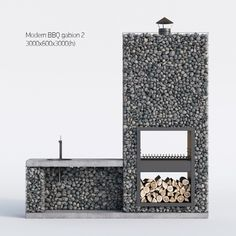 Modern BBQ gabion 2 model architectural axor barbecue, formats MAX, OBJ, FBX, ready for animation and other projects Diy Outdoor Kitchen, Backyard Kitchen, Summer Kitchen, Gabion Stone, Outdoor Fireplace Patio, Fire Pit Bbq, Outdoor Barbeque, Brick Bbq, Gabion Wall