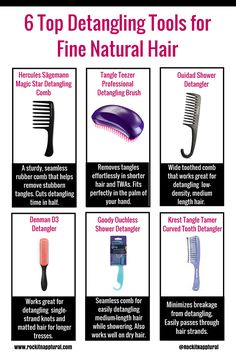 For #naturals with fine, low-density hair. Here are the best detangling tools for your delicate  strands.