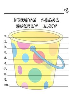 Here's a fun, easy, beginning of the year activity!  Have your students brainstorm a list of things they want to accomplish or do in 4th grade, the...