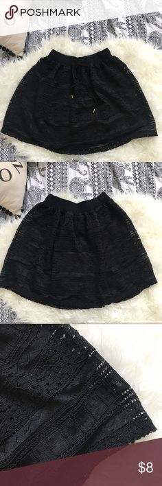 Black Skirt (lace) -cute for casual wear ✨✨✨ love on a hanger Skirts