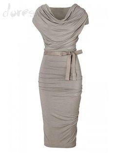 Doresuwe.com SUPPLIES 上品印象女王愛用ファッション 無地リボンベルトワンピース デートワンピース
