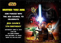 LEGO Star Wars invite