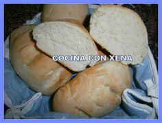 COCINA CON XENA: Bocadillos de pan casero sin levado....rápidos y muy buenos