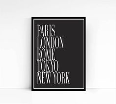 Printable city art  Paris London Rome Tokyo New by mixarthouse