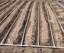 Drip irrigation using PVC Pipe Water Garden, Lawn And Garden, Garden Tips, Farm Gardens, Outdoor Gardens, Veggie Gardens, Garden Irrigation System, Irrigation Systems, Drip Line Irrigation