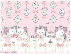"""Tea Party of Cats"" - Angelic Pretty In Collaboration with Imai Kira"