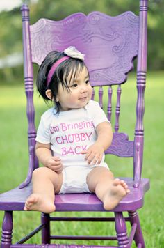 I'm Bringing Chubby Back  Funny Baby Onesie or by ShopTheIttyBitty, $16.00