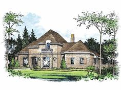 Eplans French Country House Plan - Four Bedroom French Country - 3506 Square Feet and 4 Bedrooms(s) from Eplans - House Plan Code HWEPL63890
