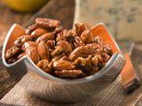 Coffee-Glazed Nuts.  When i was in Hawaii, I fell in love with the kona coffee glazed almonds.....now i just need the instant kona....mmmmm