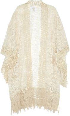 Anna Sui Draped lace kimono top Anna Sui