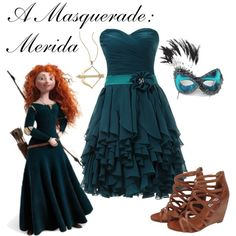 """A Masquerade: Merida"" by helsingmusique on Polyvore"