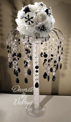 DECORATE MY WEDDING Crystal Centerpiece ABIGAIL