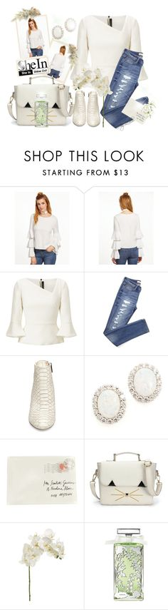 """""""White Top  <3"""" by li-lilou ❤ liked on Polyvore featuring Roland Mouret, Steve Madden, Kenneth Jay Lane, Moschino and Guerlain"""