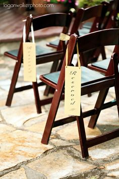 wedding Ceremony Reserved Seating | Logan Walker Photography