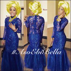 Very elegant lace ~African fashion, Ankara, Kente, kitenge, African women dresses, African prints, African men's fashion, Nigerian style, Ghanaian fashion ~DKK