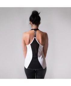 13b2c1f07657a GymJam Aura Vest White Black-GymJam-Gym Wear