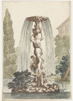 Fountain with Venus and Cupid, 1688-1698. Rijksmuseum, Public Domain