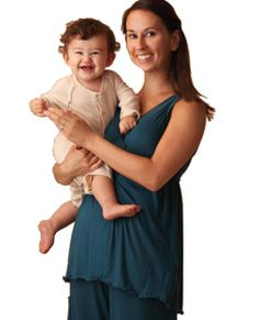 Amamante Serenity Nursing Pajamas also available in black and plum!