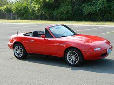 1990 Mazda Miata MX-5 Red Convertible 102k Clean Title 5 Speed Manual