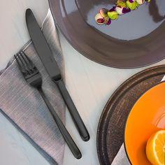 Black Faro PVD cutlery set Black Cutlery, Cutlery Set, Flatware Set