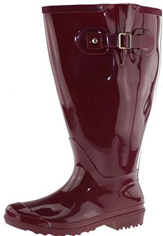 Wide Wellies Red XXL, Weitschaft Gummistiefel, 39 Wide Wellies (Amazone Germany)
