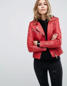 Mango | Mango Real Leather Biker Jacket