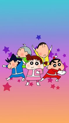 Iphone Wallpaper Kawaii, Cute Desktop Wallpaper, Cartoon Wallpaper Iphone, Sinchan Cartoon, Iphone Cartoon, Hd Cute Wallpapers, Doraemon Wallpapers, Crayon Shin Chan, Pinturas Disney