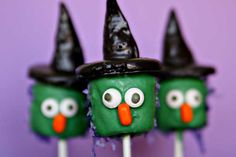 Edible Marshmallow Witch Halloween Craft