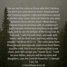 2 Corinthians 6:14-17