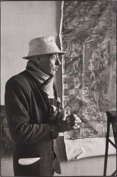"tytusjaneta: "" Henri Cartier Bresson (1908-2004) Pierre Bonnard in his studio """