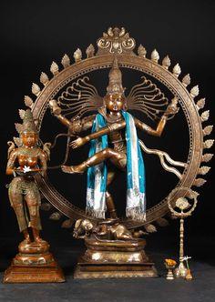 "Brass Large Dancing Shiva Nataraja 73"" (#61bs67): Hindu Gods & Buddha Statues"