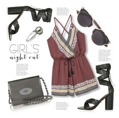 """""""Girls' Night Out.."""" by hattie4palmerstone ❤ liked on Polyvore featuring Topshop, Christian Dior, Mulberry, MANGO and girlsnightout"""