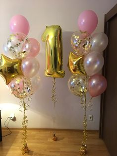 Simple Birthday Party Balloons 28 Ideas For 2020 1st Birthday Balloons, Birthday Balloon Decorations, 1st Birthday Parties, Birthday Ideas, Birthday Girl Pictures, Baby Girl 1st Birthday, Princess Birthday, Creation Deco, Partys