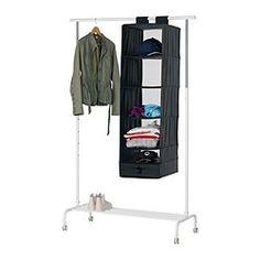 SKUBB Úložný díl se 6 přihrádkami, černá - 35x45x125 cm - IKEA