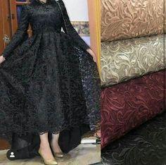No photo description available. Hijab Prom Dress, Hijab Evening Dress, Hijab Wedding Dresses, Evening Dresses, Modest Fashion Hijab, Fashion Dresses, Dress Outfits, Stylish Dress Designs, Stylish Dresses