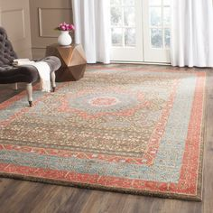 Darby Home Co Mahal Navy/Red Area Rug & Reviews | Wayfair