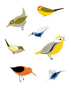 Mid-Century Birds