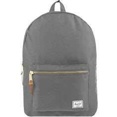 HERSCHEL SUPPLY CO Settlement backpack (1.090 ARS) ❤ liked on Polyvore featuring bags, backpacks, bags - backpacks, grey, pocket backpack, gray bag, herschel supply co backpack, vertical-zip laptop backpack and laptop pocket backpack