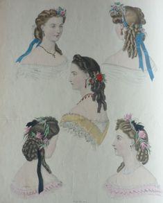 Le #coiffeur est devenu une « star » de la mode incontournable sous le second Empire (1850-1865) : que serait ces belles toilettes sans une coiffure adéquate ? #mode #numelyo #coiffure #cheveux #chignon