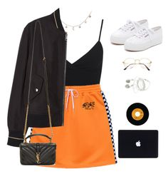 """""""Untitled #1053"""" by greciapaola ❤ liked on Polyvore featuring Miss Selfridge, Luna Skye, MANGO, Superga and Yves Saint Laurent"""