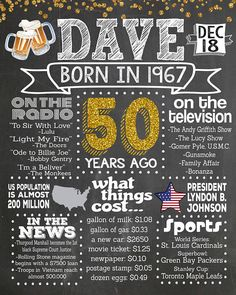 50th Birthday Poster Adult Party Ideas 40th 60th 70th Decoration Cheers And Beers Idea