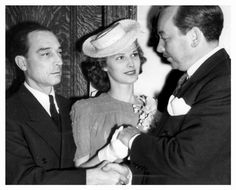 Newlyweds Buster and Eleanor Keaton, May 29, 1940 with Judge Edward Brand