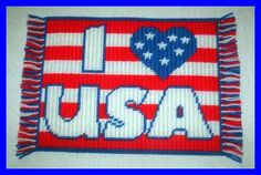 I LOVE USA PLACEMATS