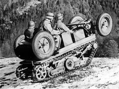 ADMK Mulus, a hybrid vehicle of the Austrian Army, from 1935