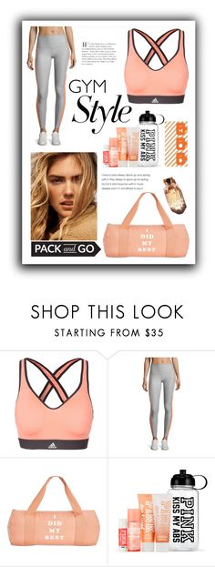 """Gym"" by fanfanfanfannnn ❤ liked on Polyvore featuring adidas, X By Gottex and ban.do"